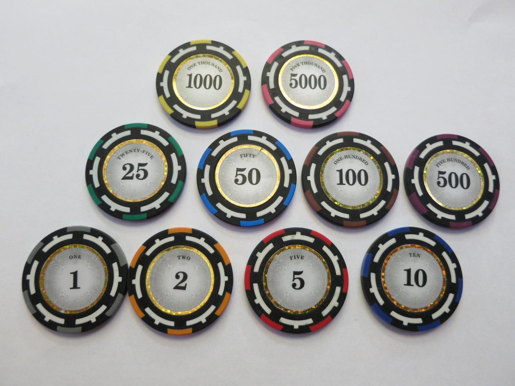 Chipkoffer Set mit 500 Vision Clay Chips