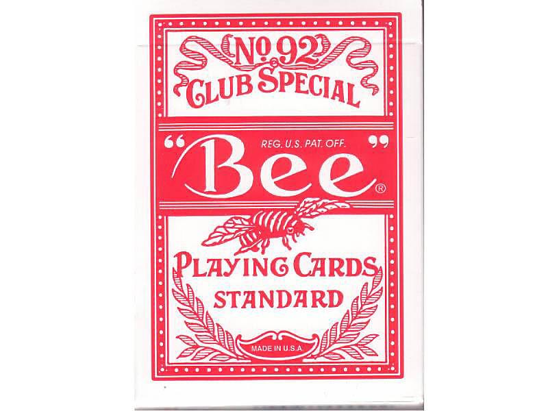 Bee Pokerkarten Rot kleiner Index