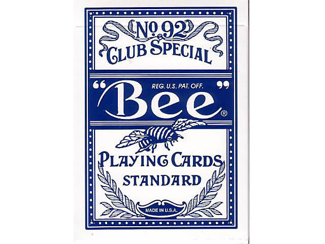 Bee Pokerkarten Blau kleiner Index
