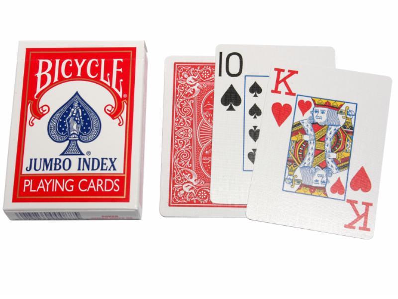 Bicycle Pokerkarten Rot 88 Jumboindex