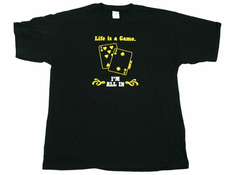 """T-Shirt """"Life is a Game"""" Schwarz Größe XXL"""