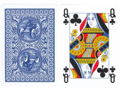 Golden Trophy Plastikkarten Blau