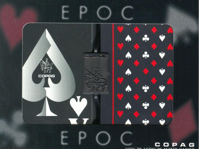 Copag  EPOC BLACK Plastikkarten Bridgesize  Doppelpack