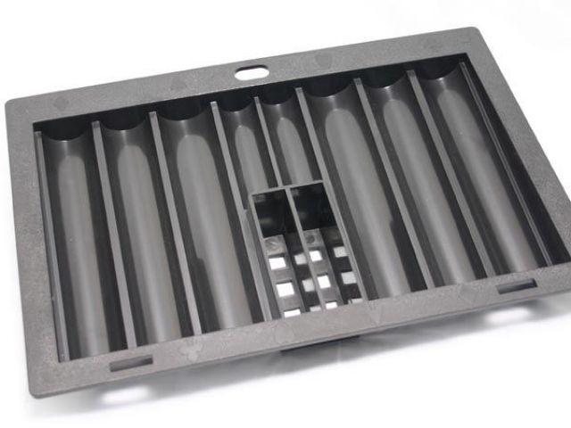 Chiptray für den Einbau mit 6 Reihen und 2 Kartendecks