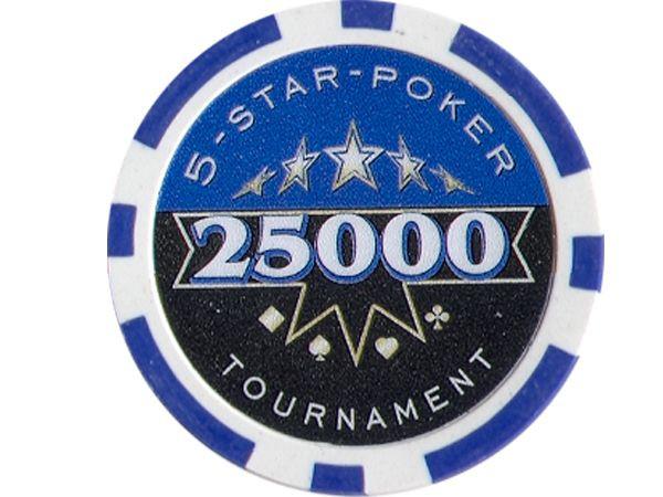 5-Star-Poker Chip 25000 Dunkelblau