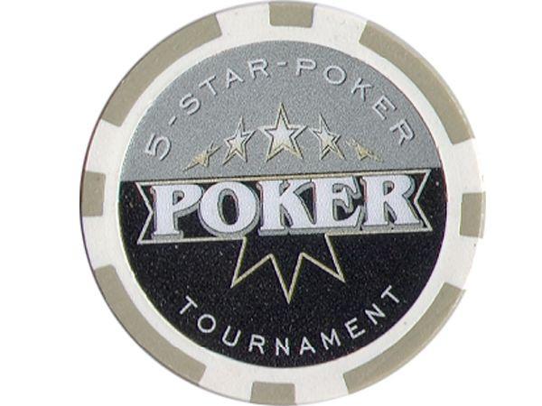 5-Star-Poker Chip Poker Grau