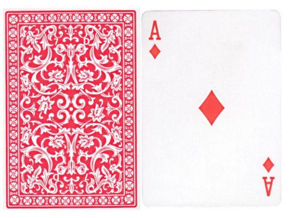 505 Karten Plastik Coated Rot, gezinkt