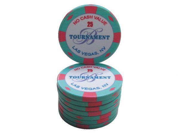 B Las Vegas Ceramic Tournament Chip 25