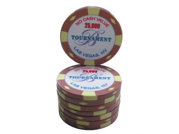 B Las Vegas Ceramic Tournament Chip 25000