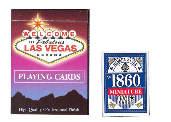 Mini Karten 1860 Nevada Style blau oder rot