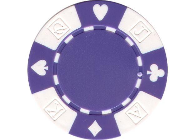 Suit AKQJ Chip Violett 11,5gr.