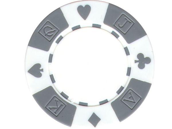 Suit AKQJ Chip Weiß 11,5gr.