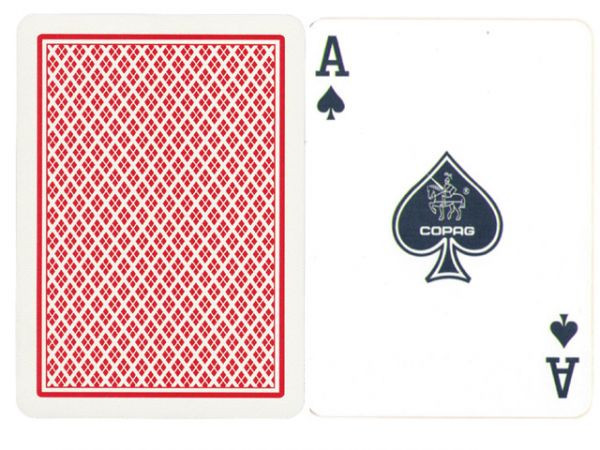 Copag Plastik-Karten Rot Poker-Index
