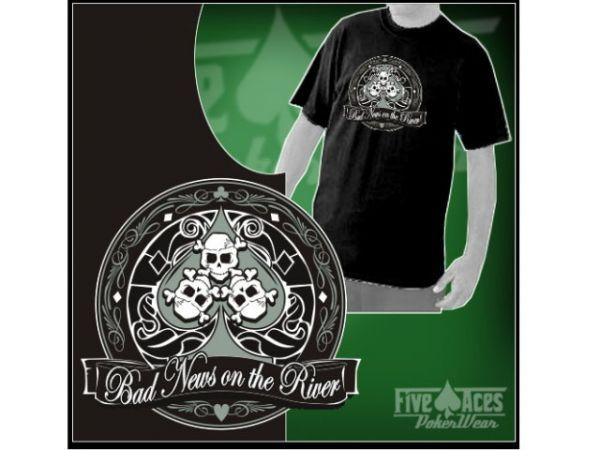 """T-Shirt """"Bad News on the River"""" Größe XXL"""