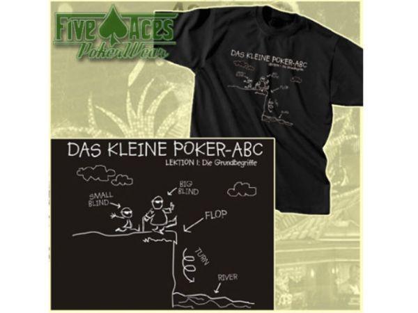 """T-Shirt """"Das kleine Poker ABC"""" Teil 1 Größe S"""