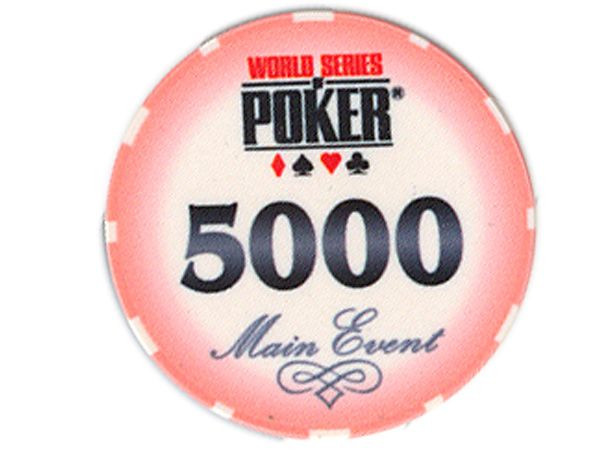 WSOP Ceramic-Chip Main Event 5000 Pfirsich