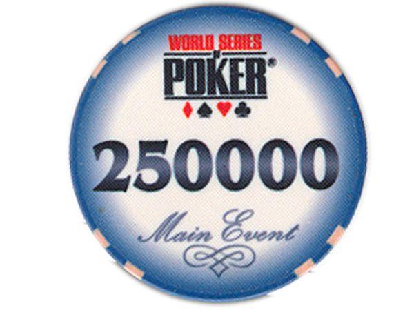 WSOP Ceramic-Chip Main Event 250000 blau