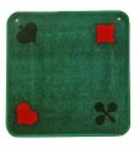 Jassteppich grün mit französischen Kartensymbolen