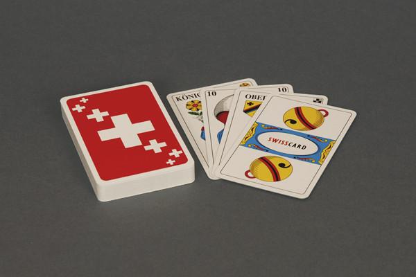 Jasskarten Schweizerkreuze mit deutschen Kartensymbolen