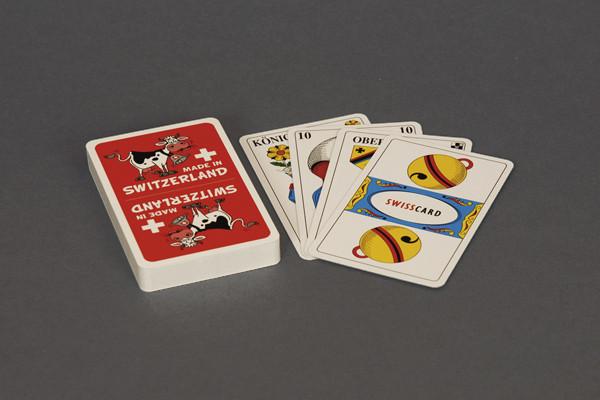 Jasskarten Kuh mit deutschen Kartensymbolen