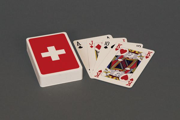 Bridge Spielkarten Schweizerkreuz