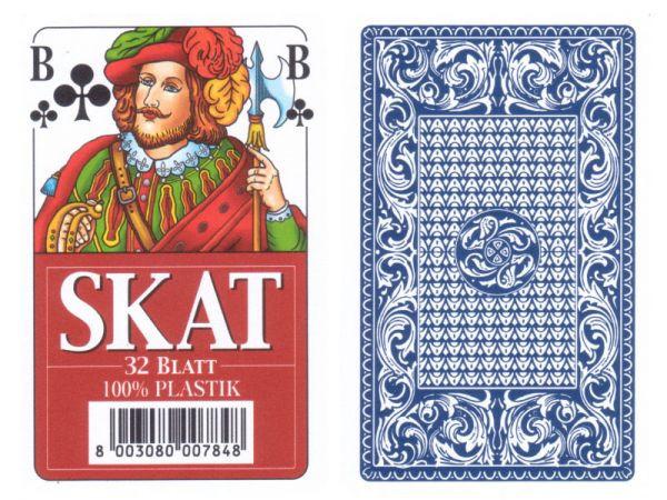Modiano Skat-Karten Vollplastik Blau