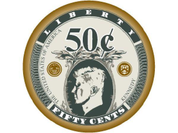 Liberty Ceramic Chip 50 Cent Oliv 10gr.