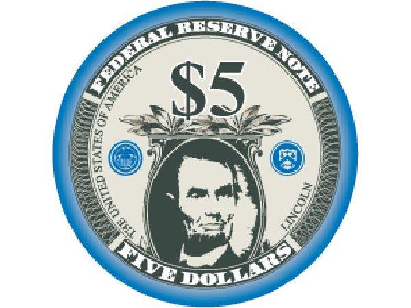 Liberty Ceramic Chip 5$ Blau 10,5g