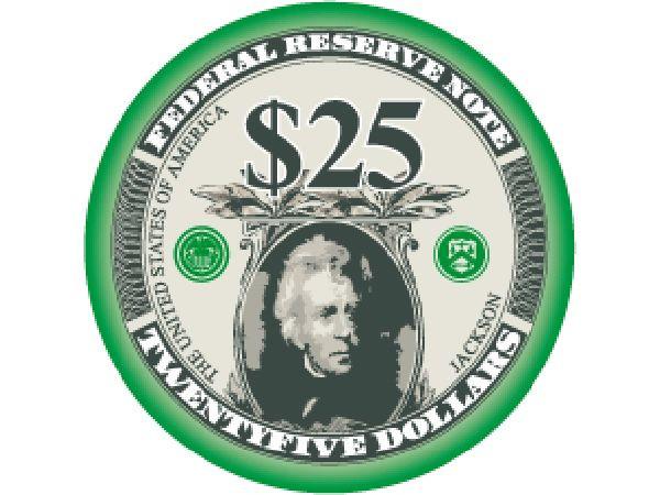 Liberty Ceramic Chip 25$ Grün 10,5g