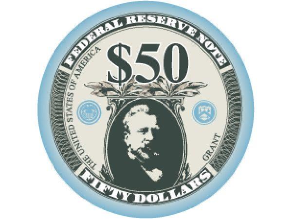 Liberty Ceramic Chip 50$ Hellblau 10,5g