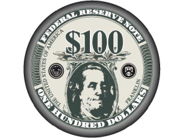 Liberty Ceramic Chip 100$ Schwarz 10g
