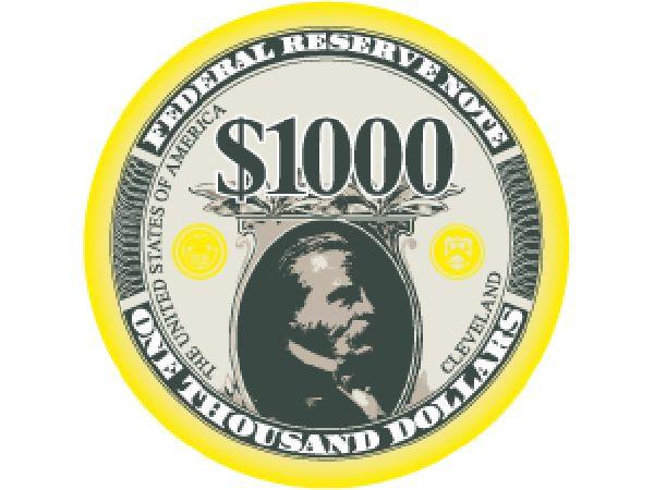 Liberty Ceramic Chip 1.000$ Gelb 10gr.