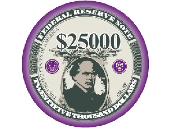 Liberty Ceramic Chip 25.000$ Violett 10gr.