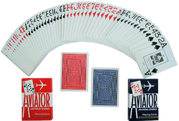 Aviator Pokerkarten Jumboindex blau