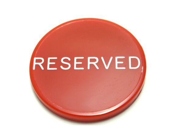 Button Reserved Rot