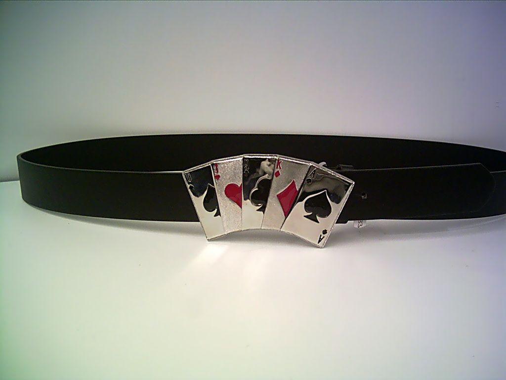 Pokergürtel Royal Flush zweifarbig Länge ca. 95cm