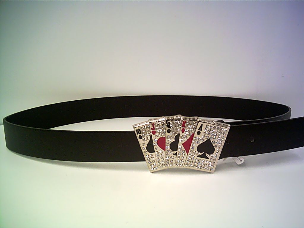 Pokergürtel Royal Flush mit Strass Länge ca. 110cm
