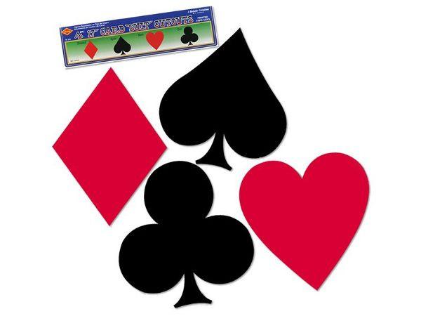 Deko Kartensymbole Cutout, 4er Set