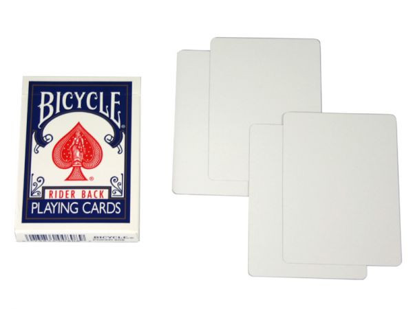 Bicycle Rider Back Magic Cards Blanco/Blanco