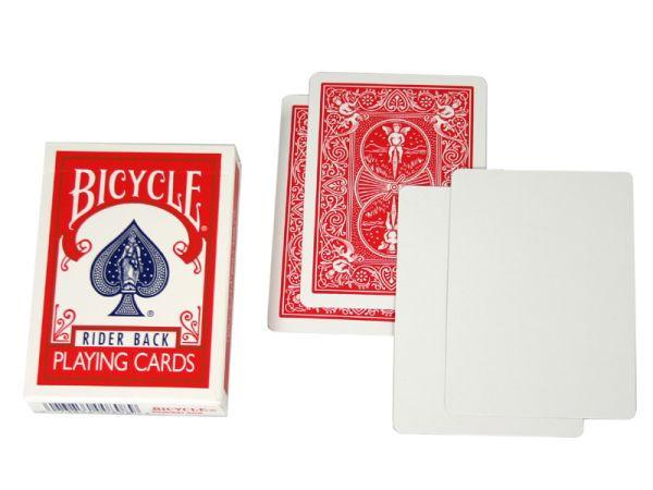 Bicycle Rider Back Magic Cards Blanco/Rot