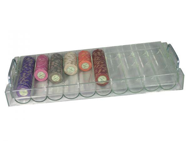 Acryl Chiptray mit Deckel für bis zu 490 Chips