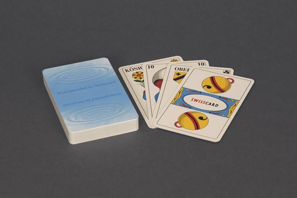 100% Plastik-Jasskarten mit deutschen Symbolen