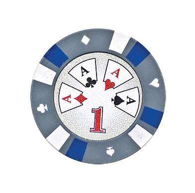5 Cards Clay Pokerchip 13,5g 1er grau