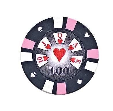 5 Cards Clay Pokerchip 13,5g 100er schwarz