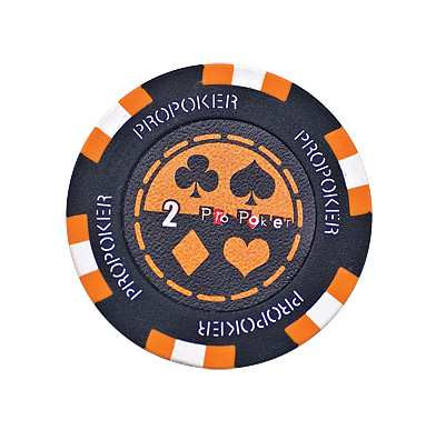 Pro Poker Clay Chip 13,5g 2er orange