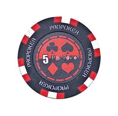 Pro Poker Clay Chip 13,5g 5er rot