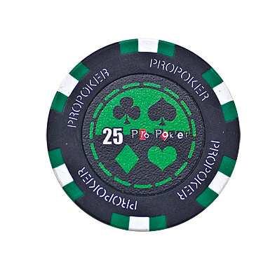 Pro Poker Clay Chip 13,5g 25er grün