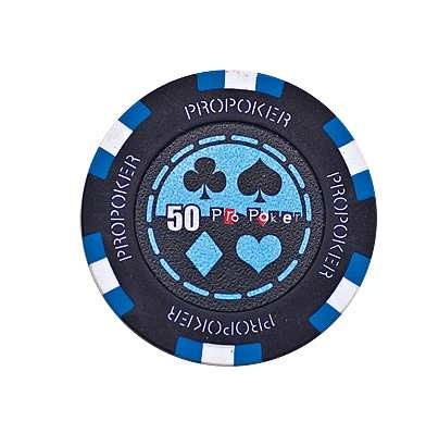 Pro Poker Clay Chip 13,5g 50er hellblau