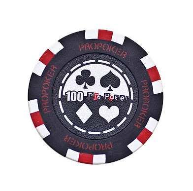 Pro Poker Clay Chip 13,5g 100er schwarz