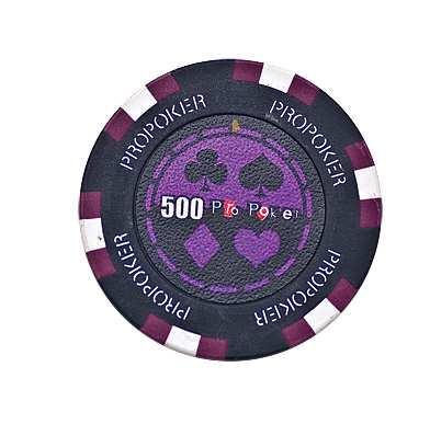 Pro Poker Clay Chip 13,5g 500er violett